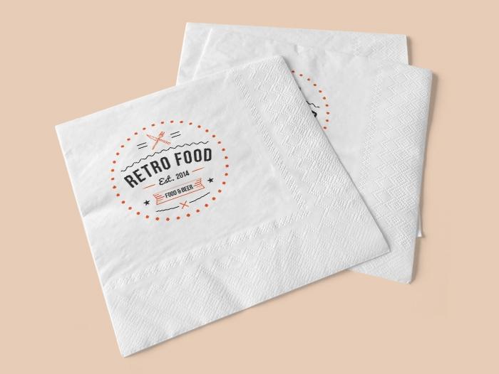 Impression serviette en papier pas cher