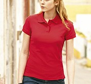 FRUIT OF THE LOOM - Femme polo piqué réf.63212 180g