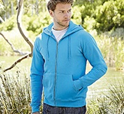 FRUIT OF THE LOOM Zip Capuche Homme réf.62062 280g